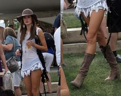 shorts and cowboy boots, so cute!!