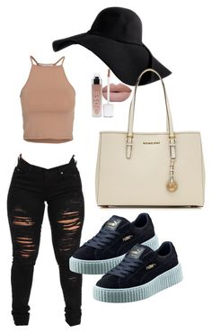 """""""Untitled #54"""" by tay-liangg on Polyvore featuring NLY Trend, Puma and MICHAEL Michael Kors"""