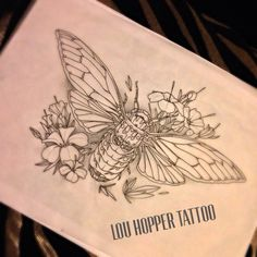 New cicada bug tattoo design up for grabs £210, please pm me.
