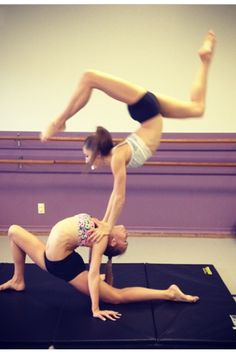 No joke. This is what we so for about half an hour in my tumbling (acro) class. Haha. •balance tricks•