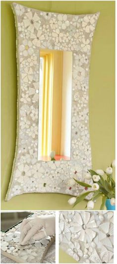 30 Gorgeous Mosaic Projects To Beautify Your Home And Garden - DIY & Crafts Mosaic Crafts, Mosaic Projects, Mosaic Ideas, Craft Projects, Craft Ideas, Mosaic Flower Pots, Mosaic Garden, Mirror Mosaic, Mosaic Glass