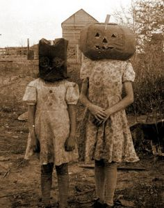 "Old Halloween photos can be a subtle way to lend the ""creepy"" factor..."