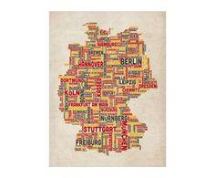 Lámina Germany City Map