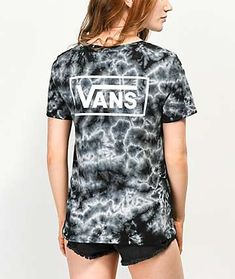 72524c44f713b0 Vans Checkerboard Black Tie Dye T-Shirt