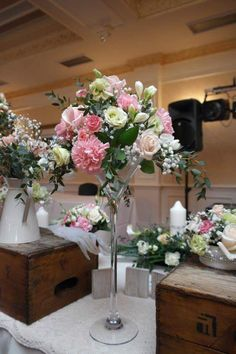 What an impact high table centrepieces make