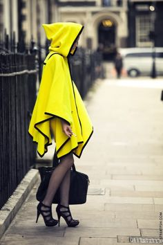 Yellow rain cape