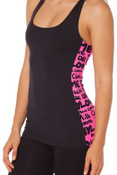 Highlighter Pink Combat Top - LIMITED by Black Milk Clothing $50AUD