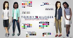TS4 | onyxsims: Tommy Hilfiger Child collection #CAS clothing top bottom shoes everyday male female