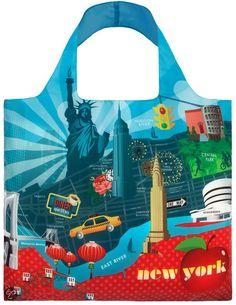 LOQI Store - Opvouwbaar Tasje - Tote Urban - New York