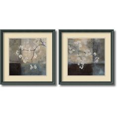 Amanti Art 'Spa Blossom' by Laurie Maitland 2 Piece Framed Painting Print Set