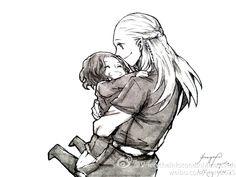 Legolas and litle Aragorn -- Леголас и маленький Арагорн