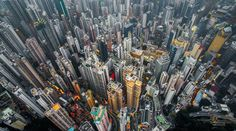 Above Hong Kong from a Drone  Photographer Andy Yeung based in Hong Kong caught stunning pictures with a drone camera for his series entitled Urban Jungle. His pictures show the architecture and the impressive heigh and concentration on the territories proof of the growth of the region. A concentration more impressive from above.       #xemtvhay