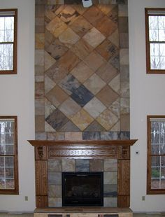 slate fireplace designs | Slate Tile Fireplace by jamesjustice_06, via Flickr | new home ideas
