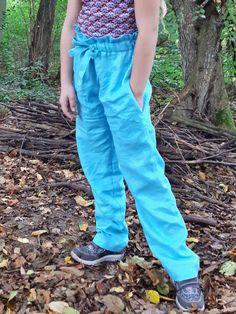 Papiertüte Paperbag Hose für Mädchen – ebook und Schnittmuster Paperbag Hose, Parachute Pants, Fashion, Sewing For Kids, Princess, Sewing Patterns, Trousers, Tutorials, Moda