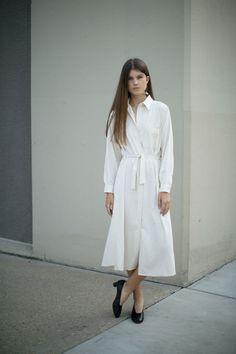 Baserange - Off White Shirt Dress | BONA DRAG