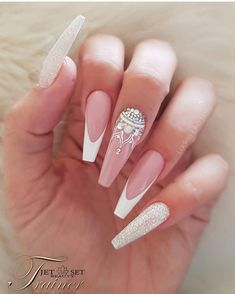best nail designs colors for spring 2019 img 77 bad nails, long nails Gorgeous Nails, Pretty Nails, Cute Nails, Long Nail Designs, Nail Art Designs, Nails Design, Best Nail Designs, Bad Nails, Hallographic Nails