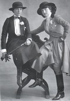 ๑ Nineteen Fourteen ๑ historical happenings, fashion, art style from a century ago - Miss Teddy Gerard and  Miss Doddy  Durand, 1914