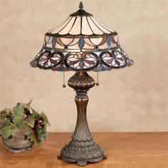 Gabriela Stained Glass Table Lamp Multi Pastel Each with CFL Bulbs Stained Glass Table Lamps, Stained Glass Lamp Shades, Origami Lamp, Arc Lamp, Large Lamps, Retro Lamp, Bright Homes, Rustic Lamps, Tiffany Lamps