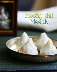 Yellow moong dal, made to a delicious pooran - with moong dal as main ingredient. Poli Recipe, Modak Recipe, Paneer Dishes, Indian Sweets, Pressure Cooking, Indian Food Recipes, Ganesh, Festive, Peda