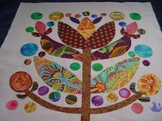 """If I ever make a """"real"""" quilt, it will be with blocks something like this. Applique."""