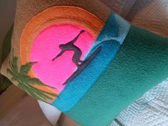 Surfers Pardise Pillow 18x18 by OceanBeachGirlDesign on Etsy, $90.00