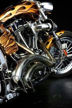 Custom Harley Davidson Chopper .. *Very Tight *