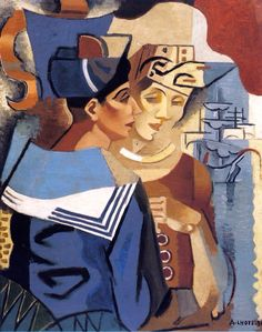 André Lhote French) 'The Sailor and The Martinican Woman' 1923 Georges Braque, Harlem Renaissance, Andre Derain, Henri Matisse, Pablo Picasso, Maurice De Vlaminck, Sonia Delaunay, Pierre Bonnard, Paul Cezanne