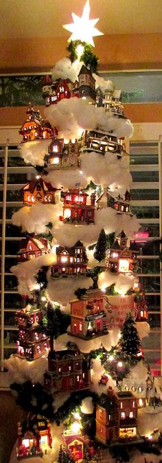 Village Christmas Tree Photograph