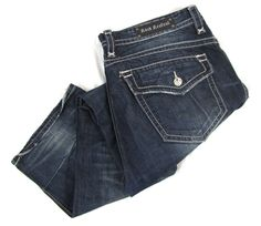 Rock Revival Steven Jeans 40 x 33 Big Regular Straight Leg Blue Distressed Denim #RockRevival #ClassicStraightLeg