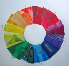 color wheel collage by Jane Davies