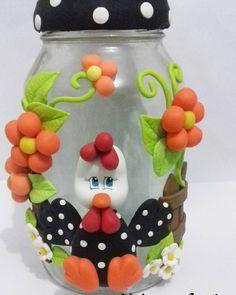 "Pote grande galinha  #biscuit #polycol #porcelanafria #massaflexible #potesdecorados…"""