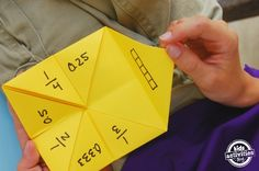 You know those paper fortune tellers? They were *the* rage when I was a kid. I loved them! And it is time to introduce my kiddos to the joy of Cootie catchers – while reviewing math lessons. We made two paper games, one to review fractions and another to review times tables. . Want to learn …