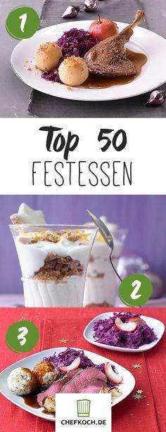 Top 50 Festessen: Gänsebraten, Kartoffelsalat, Tiramisu & Co.