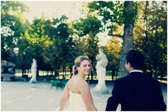 romantic #wedding at the #EiffelTower and Jardin de Luxembourg