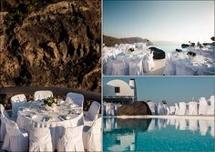 "Olga and Fabrizio's destination wedding in Santorini- Flower Creations and Decoration: ''Wedding Wish Santorini'' (www.facebook.com/... Wedding Planner: ""Poema Weddings & Special Events in Santorini - Event Specialists in Greece"""