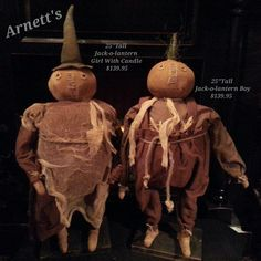 Jack-O-Lantern Boy&Girl by Artist Stacee Droit From Arnett's Country Store