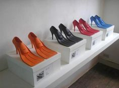 high heels scuba fins by Lisa Carney