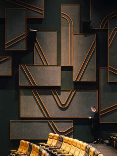 Shanghai Omnijoi International Cinema by One Plus Partnership Limited art deco inspired Auditorium Design, Shanghai, Design Ppt, Design Case, Design Concepts, Design Ideas, Art Deco Design, Wall Design, Best Office
