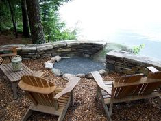 sweet by the lake. outdoor-fire-pit-design-ideas-5-outdoor-fire-pit-landscape-