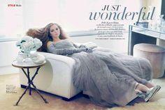 Lily Cole wears Louis Vuitton, Brioni and Terry de Havilland