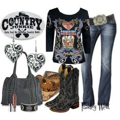 """Country Junkie"" by paisleywest on Polyvore"