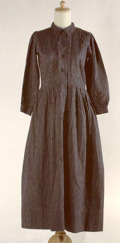Dress - Navy Blue Cotton