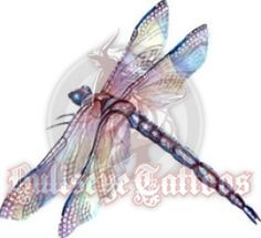 Lavander Dragonfly at BullseyeTattoos.com