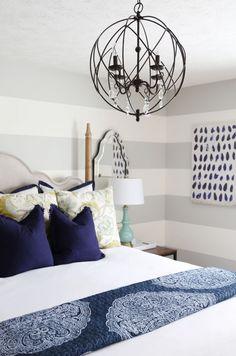 Sarah Stewart's Serene Blue Guest Bedroom | Hayneedle Blog