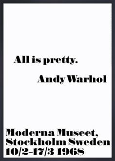 All is pretty Art Print by Andy Warhol at King & McGaw
