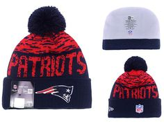 Men's / Women's New England Patriots New Era NFL 2016 On-Field Sports Knit Pom Pom Beanie Hat - Red / Navy