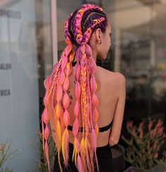 The Ultimate Coachella Hair Inspo is part of braids - Coachella is just weeks away, so it's time to plan your festival look! When it comes to hair, you can Rave Hair, Festival Braid, Tattoo Festival, Afro Hair Festival, Coachella Hair, Curly Hair Styles, Natural Hair Styles, Blonde Box Braids, Braids With Extensions