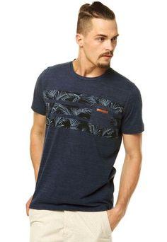 Camiseta Colcci Estampa Azul