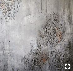 Our newly released [re]design stencils are hitting store shelves now! Some of our stencils were made thicker so you can add a variety of substrates to create dimensional patterns on your surfaces. Plaster Art, Plaster Walls, Faux Walls, Textured Walls, Textures Murales, Faux Murs, Old Wall, Stencil Painting, Stenciling