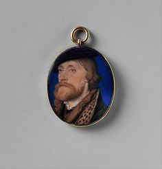 Hans Holbein the Younger, Thomas Wriothesley Ist Earl of Southampton c1535 This miniature, which is widely ascribed to Holbein, is based on a drawing by him